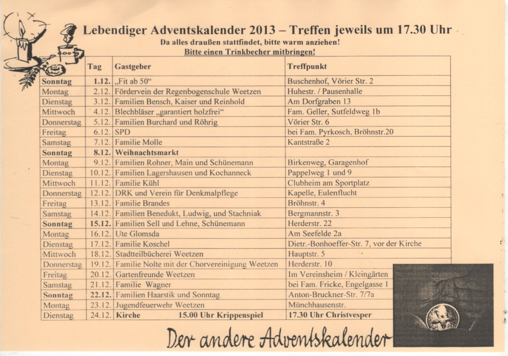 2013-12 Lebendiger Adventskalender